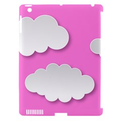 Clouds Sky Pink Comic Background Apple Ipad 3/4 Hardshell Case (compatible With Smart Cover)