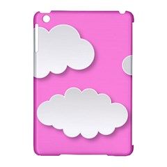 Clouds Sky Pink Comic Background Apple Ipad Mini Hardshell Case (compatible With Smart Cover)