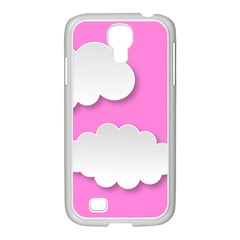 Clouds Sky Pink Comic Background Samsung Galaxy S4 I9500/ I9505 Case (white)