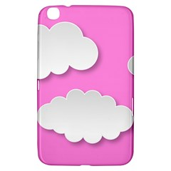 Clouds Sky Pink Comic Background Samsung Galaxy Tab 3 (8 ) T3100 Hardshell Case
