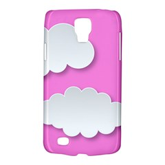 Clouds Sky Pink Comic Background Galaxy S4 Active