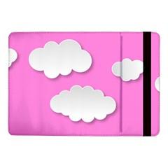 Clouds Sky Pink Comic Background Samsung Galaxy Tab Pro 10 1  Flip Case