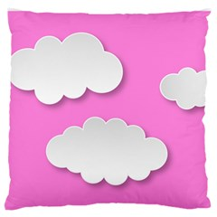 Clouds Sky Pink Comic Background Standard Flano Cushion Case (two Sides)