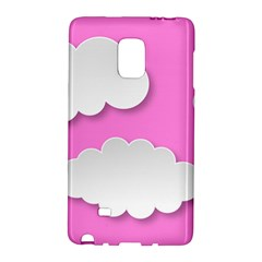 Clouds Sky Pink Comic Background Galaxy Note Edge