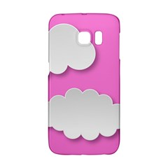 Clouds Sky Pink Comic Background Galaxy S6 Edge by BangZart