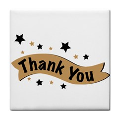 Thank You Lettering Thank You Ornament Banner Tile Coasters by BangZart