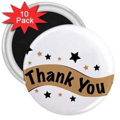 Thank You Lettering Thank You Ornament Banner 3  Magnets (10 Pack)