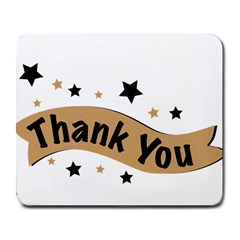 Thank You Lettering Thank You Ornament Banner Large Mousepads by BangZart