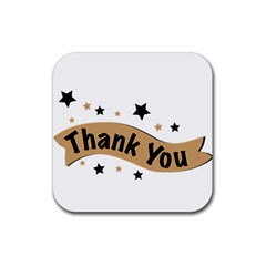 Thank You Lettering Thank You Ornament Banner Rubber Square Coaster (4 Pack)