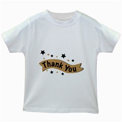 Thank You Lettering Thank You Ornament Banner Kids White T Shirts