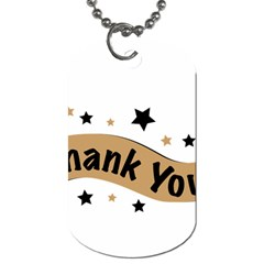 Thank You Lettering Thank You Ornament Banner Dog Tag (one Side)