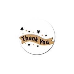 Thank You Lettering Thank You Ornament Banner Golf Ball Marker (4 Pack)