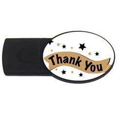 Thank You Lettering Thank You Ornament Banner Usb Flash Drive Oval (2 Gb)