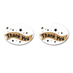 Thank You Lettering Thank You Ornament Banner Cufflinks (oval)