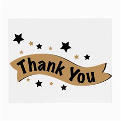 Thank You Lettering Thank You Ornament Banner Small Glasses Cloth (2 Side)