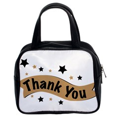 Thank You Lettering Thank You Ornament Banner Classic Handbags (2 Sides)