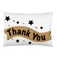Thank You Lettering Thank You Ornament Banner Pillow Case