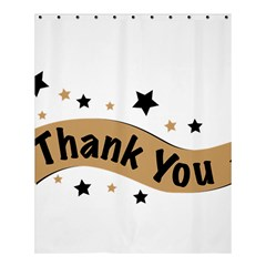 Thank You Lettering Thank You Ornament Banner Shower Curtain 60  X 72  (medium)  by BangZart