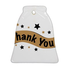 Thank You Lettering Thank You Ornament Banner Ornament (bell)