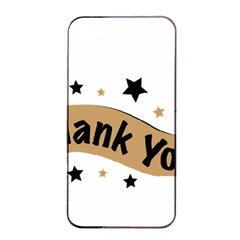 Thank You Lettering Thank You Ornament Banner Apple Iphone 4/4s Seamless Case (black)