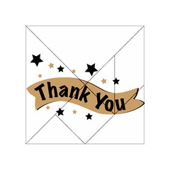 Thank You Lettering Thank You Ornament Banner Acrylic Tangram Puzzle (4  X 4 ) by BangZart