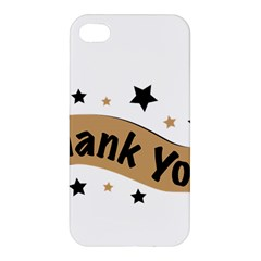 Thank You Lettering Thank You Ornament Banner Apple Iphone 4/4s Premium Hardshell Case