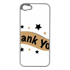 Thank You Lettering Thank You Ornament Banner Apple Iphone 5 Case (silver)