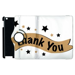 Thank You Lettering Thank You Ornament Banner Apple Ipad 2 Flip 360 Case