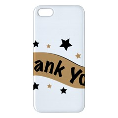 Thank You Lettering Thank You Ornament Banner Apple Iphone 5 Premium Hardshell Case by BangZart
