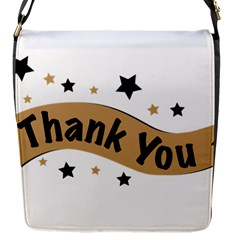 Thank You Lettering Thank You Ornament Banner Flap Messenger Bag (s) by BangZart
