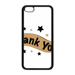 Thank You Lettering Thank You Ornament Banner Apple Iphone 5c Seamless Case (black)