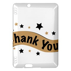 Thank You Lettering Thank You Ornament Banner Kindle Fire Hdx Hardshell Case by BangZart