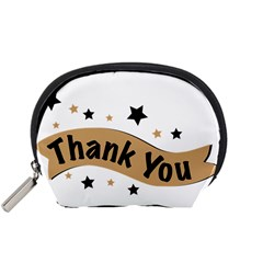 Thank You Lettering Thank You Ornament Banner Accessory Pouches (small)
