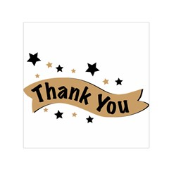 Thank You Lettering Thank You Ornament Banner Small Satin Scarf (square)
