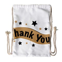 Thank You Lettering Thank You Ornament Banner Drawstring Bag (large) by BangZart