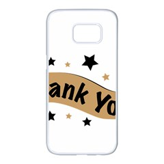 Thank You Lettering Thank You Ornament Banner Samsung Galaxy S7 Edge White Seamless Case by BangZart