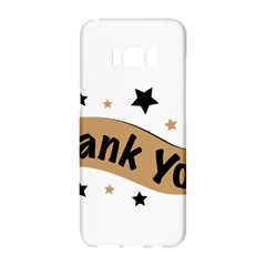 Thank You Lettering Thank You Ornament Banner Samsung Galaxy S8 Hardshell Case  by BangZart