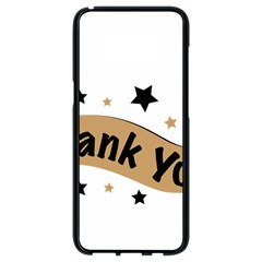 Thank You Lettering Thank You Ornament Banner Samsung Galaxy S8 Black Seamless Case