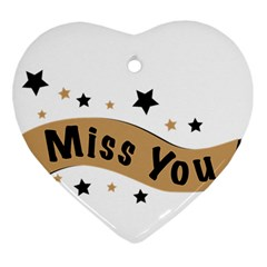 Lettering Miss You Banner Ornament (heart)