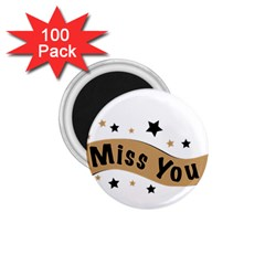 Lettering Miss You Banner 1 75  Magnets (100 Pack)