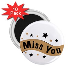 Lettering Miss You Banner 2 25  Magnets (10 Pack)