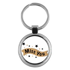 Lettering Miss You Banner Key Chains (round)