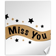 Lettering Miss You Banner Canvas 8  X 10