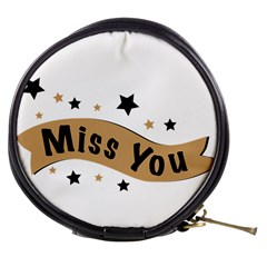 Lettering Miss You Banner Mini Makeup Bags