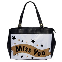 Lettering Miss You Banner Office Handbags