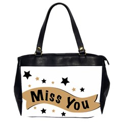 Lettering Miss You Banner Office Handbags (2 Sides)