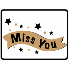 Lettering Miss You Banner Fleece Blanket (large)  by BangZart