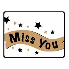 Lettering Miss You Banner Fleece Blanket (small)
