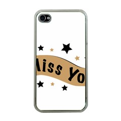 Lettering Miss You Banner Apple Iphone 4 Case (clear)