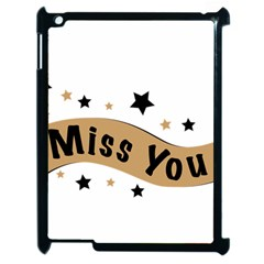 Lettering Miss You Banner Apple Ipad 2 Case (black)